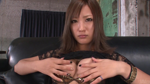 Aika loves taking asian creampies with her stockings on