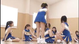 DVDES-461 Blue Skirt Cheerleader